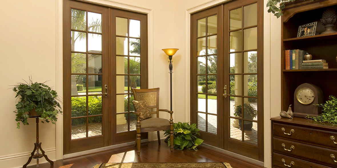 Preferred french door winguard aluminum french door for Aluminum french doors