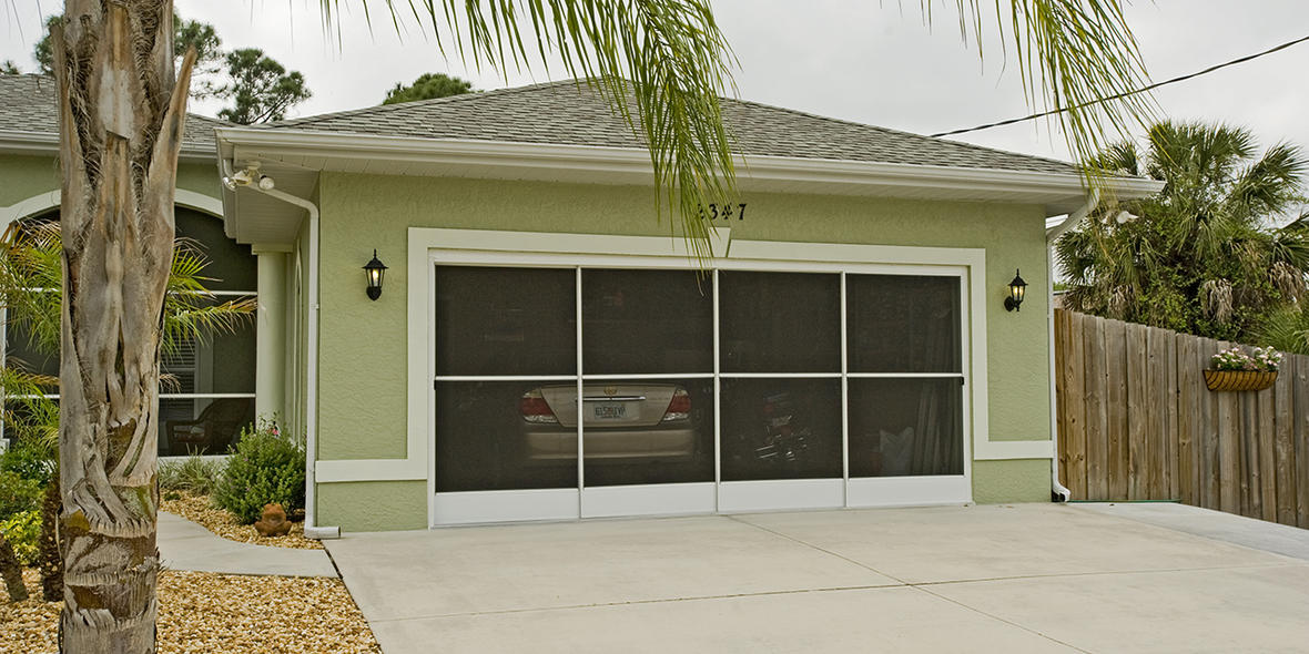 Garage Door Screens : Side slider garage door screen ss eze breeze